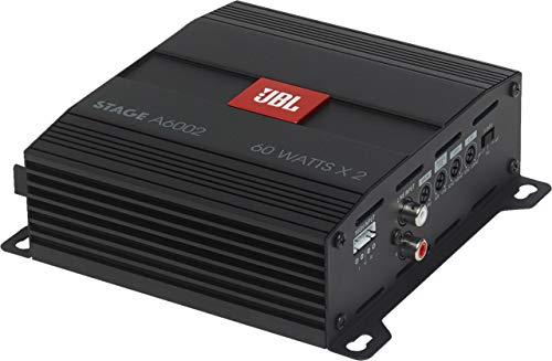 JBL Stage A6002 2-Kanal Endstufe Auto - 2 x 60 Watt KFZ Autoradio Verstärker (280 Watt Max)