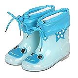 ADDYZ Los niños de goma botas de lluvia niños PVC algodón lluvia zapatos rosa...