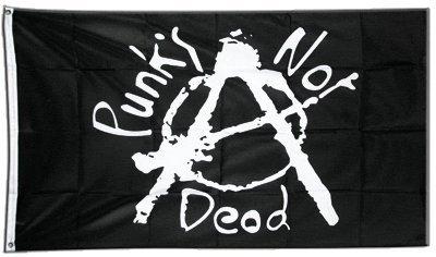 Digni Drapeau Punk's Not Dead - 90 x 150 cm Sticker Gratuit