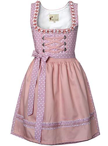 Alte Liebe Trachtenkleid 2tlg. Dirndl Kleid 34,36,38,40,42,44,46, Rosa, 44