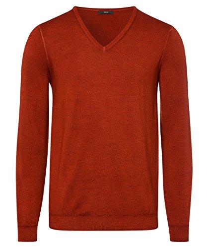 BRAX Herren Style Merino Wool V Kragen Pullover, Rust, Large