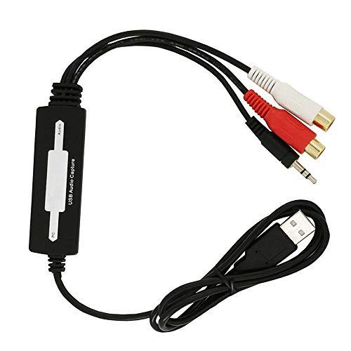 MNTT MP3 Converter,Windows 10/8.1/8/7/Vist USB 2.0 Audio Encoder Vinyl Cassette Tapes CD Computer Components Digital Audio Recorder Capture Card
