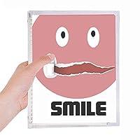 甘いピンクの感情 硬質プラスチックルーズリーフノートノート