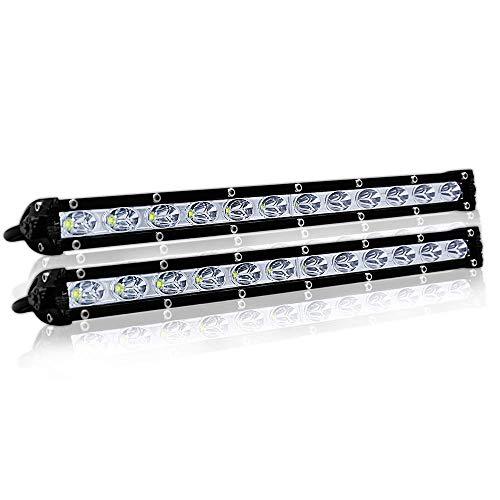 LIANGANAN 2 Piezas de 13 Pulgadas 36W Fila De LED Tira Luces de conducción del Trabajo de modificación Fuera de Carretera Luces de Techo Luces de Tira