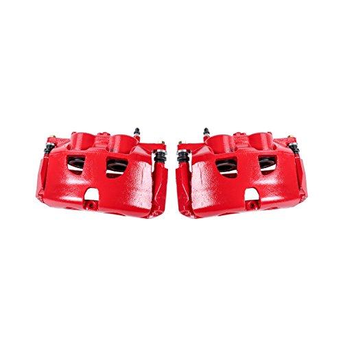 Callahan CCK01574 [2] FRONT Performance Grade Red Powder Coated Semi-Loaded Caliper Assembly Pair Set