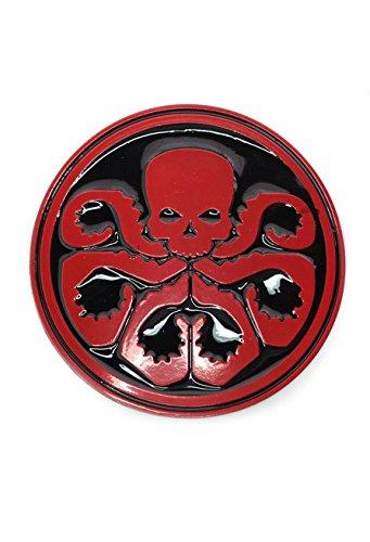 hebilla de metal para cinturón de Marvel, Hydra de Los Vengadores.