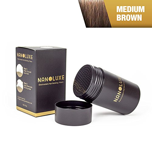 Nanoluxe, correttore in fibre capillari, marrone medio, 25 g