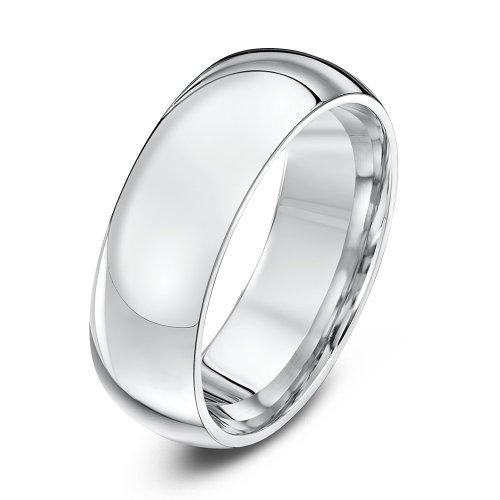 Theia Palladium 950 Super Heavy - Court Shape 7mm Wedding Ring - Size W