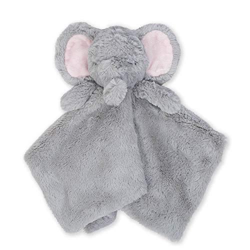 Just Born Boys and Girls Newborn Infant Baby Toddler Nursery Cuddleplush Toy Animal Security Blanket, Grey Elephant, One Size
