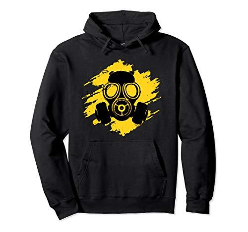 Gas Mask Symbol Danger Poison Logo Horror Halloween Pullover Hoodie