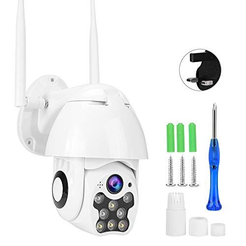 Letnia niespodzianka Wodoodporna kamera, kamera z wykrywaniem 1080P PTZ, system trzech trybów nocnych 8LED budzik budzik wideo instrukcja (brytyjskie przepisy)