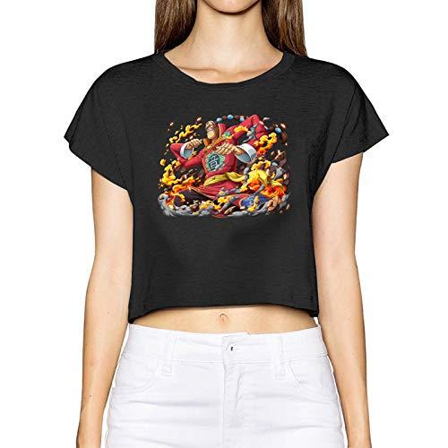 FXNOW Camiseta informal para mujer de Scratchmen Apoo AKA Roar O-N-E-Piece Crop Top Camisetas