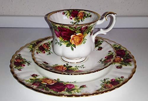 Royal Albert - Tazza da collezione Old Country Roses, set da 3 pezzi