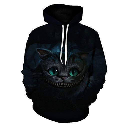 YFQEGM Harajuku Frauen Hoodies Kawaii Cat Print Sweatshirt Lady Hooded Wütende Katze 3D Hoodie Streetwear Langarm Moletom Pullover Herren-Wdt248_6XL