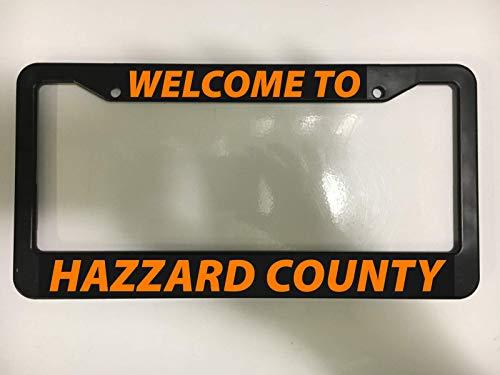 ShopForAllYou License Plate Frame Hazzard County Dukes of Hazzard Show Race Charger Black New Frame