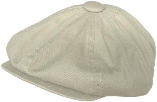 Broner 8 4 Apple Jack Cap Cotton Newsboy Hat (Tan, X-Large)