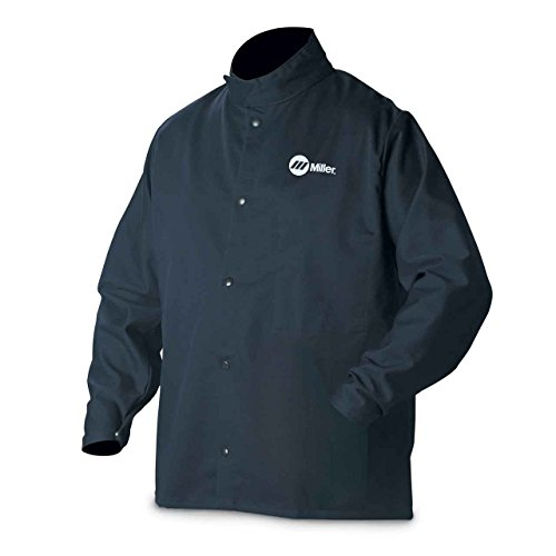 Miller Electric 2241909 Welding Jacket, Navy, Cotton/Nylon, XL