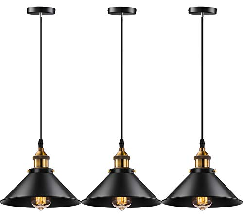 Licperron Industrial Pendant Light E26 E27 Base Vintage...