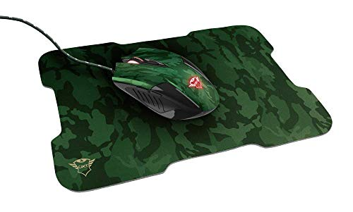 Trust GXT 781 Rixa Camo Gaming Mouse and Mouse Pad - Green Camo
