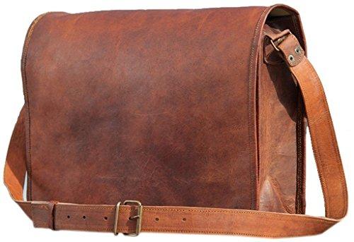 """Sac en cuir sac a maincartable en cuir sac en bandoulière sac porté épaule sacoche en cuir sac business…11"""" inch"""