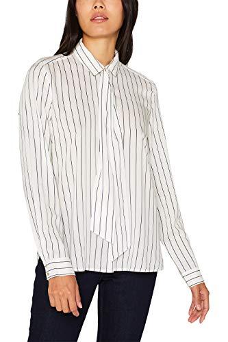 ESPRIT Damen 099EE1F016 Bluse, Weiß (Off White 110), (Herstellergröße: 34)