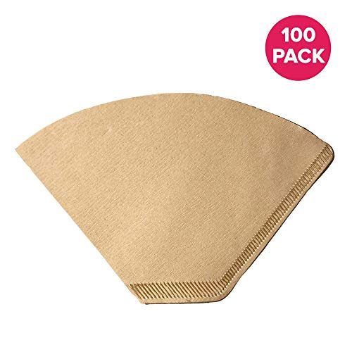 Think Crucial Replacement Coffee Filters – Compatible with Part C60666 – Fits Small Clever Coffee Maker/Dripper, Model #2 Unbleached Natural Brown Paper Coffee Filters – Bulk (100 Pack)