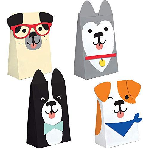 Neu: 8 Partytüten aus Papier * Hunde * für eine Mottoparty rund um Haustiere   Geschenktüten Tüten Mitgebsel Kinder Geburtstag Kindergeburtstag Motto Party Jack Russell Terrier