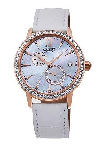 ORIENT Reloj de pulsera para mujer Swarovski automático 'Sol y Luna' con esfera de perlas de oro rosa RA-AK0004A