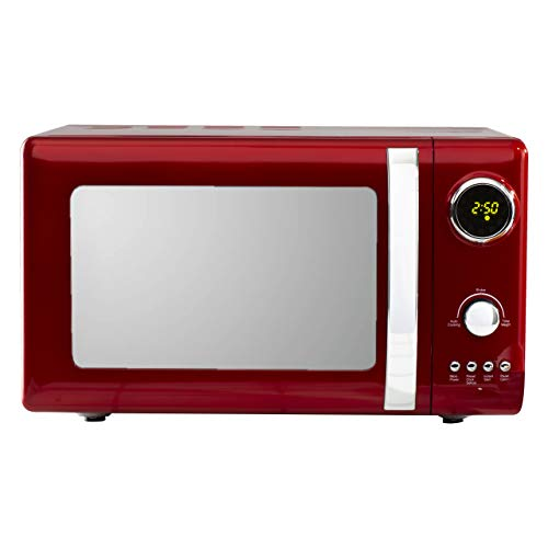 Kensington 20L Digital Microwave | 5 Power Settings | Defrost & Cancel Control | 245mm Turntable Glass Tray | Digital Timer | Beep Indicator | 800W/220-240V/50Hz - Red