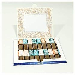 42thinx Individuelle Geschenkidee - Aufkleber-Set Zum Personalisieren Einer Merci Schokolade Schachtel - Selbst Gemacht Kommt Von Herzen - Design Topographie