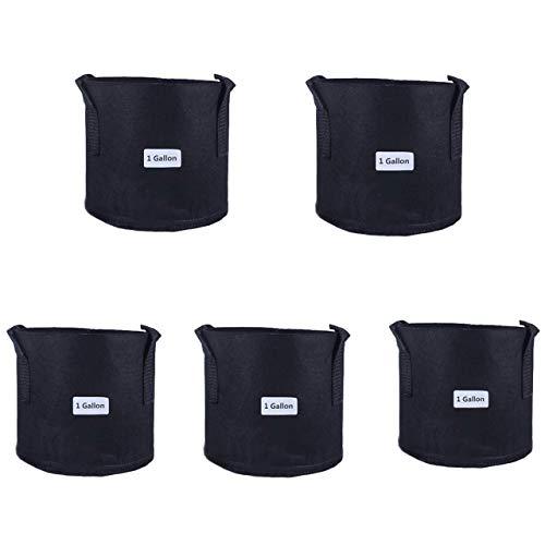 exitora 植木鉢 鉢 ガーデンバッグ 不織布 プランター 大型 プラスチック 1ガロン 5個セット