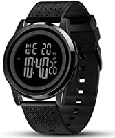 YUINK Mens Watch Ultra-Thin Digital Sports Watch Waterproof Stainless Steel Fashion Wrist Watch for Men Women