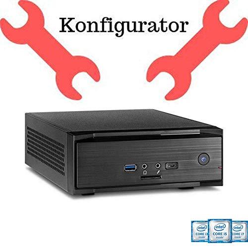 Intel Mini-Computer Konfigurator zum selbst zusammenstellen: Intel i3, i5, i7 9000er, Pentium, 8 bis 32GB RAM, 250GB NVME M.2 SSD bis 2 TB SSD, Optional mit Windows 10 Pro, Festplatte, WLAN, Bluetooth