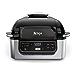 "Ninja Foodi 5-in-1 4-qt. Air Fryer, Roast, Bake, Dehydrate Indoor Electric Grill (AG301), 10"" x 10"", Black and Silver (Renewed)"
