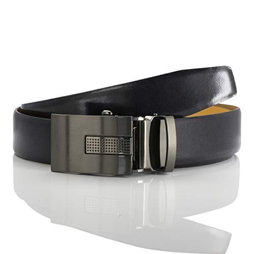 LINDENMANN Herren Ledergürtel/Herren Gürtel Automatik, Rindleder, schwarz, Größe/Size:90, Farbe/Color:schwarz