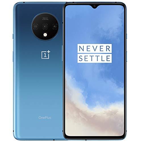 OnePlus 7T (128GB, 8GB) 6.55' AMOLED 90Hz Display, Snapdragon 855+, T-Mobile Unlocked Global 4G LTE GSM (AT&T, Metro, Cricket) (Glacier Blue) (Renewed)