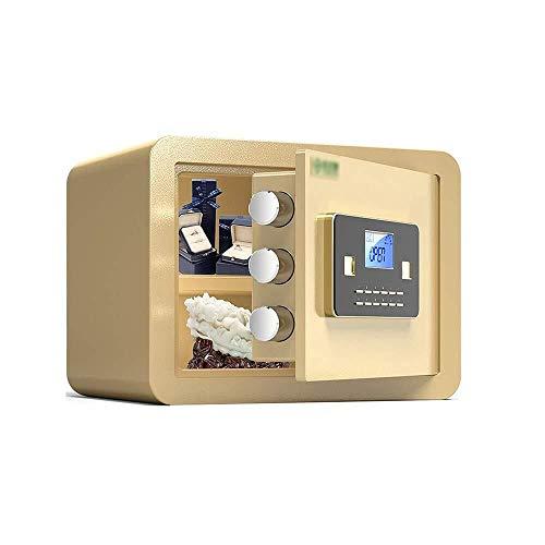 Insurance kabinet Kluizen, All Steel Safe met alarmfunctie elektronische digitale Password Lock Box Kassa for thuiskantoor Bank Hotel Kluis (Color : Gold, Size : 35x25x25cm)