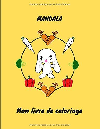 Mandala: Mon livre de coloriage | 50 pages | 8.5 x11 pouces | cahier d'activités pour enfants