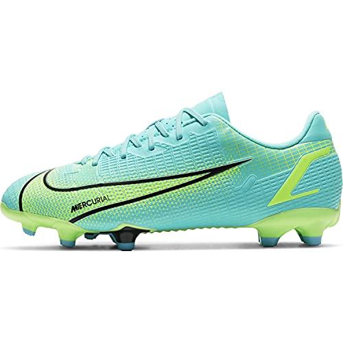 Nike JR Vapor 14 Academy FG/MG, Scarpe da Calcio, Dynamic Turquoise/Lime Glow, 36 EU