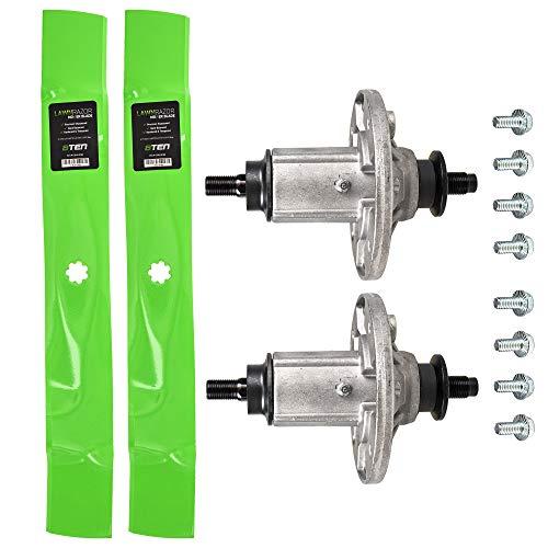8TEN Spindle Mulching Blade Kit for John Deere 42 inch Deck 115 125 135 LA100 LA 105 110 120 125 135 X106 X110 X120 D110