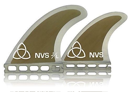 Naked Viking Surf Medium JL Quad Surfboard Fins (Set of 4) Bamboo Futures Base