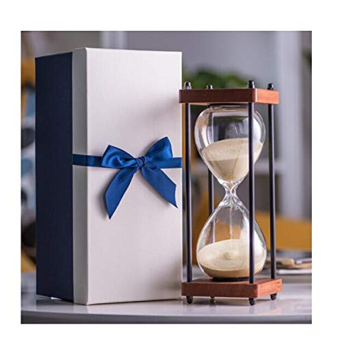 JINSUO NWXZU Eieruhr, Retro Sanduhr Timer, Familie Kreative Verzierungen, Vier-Säulen-Unterstützung, Zeit 30 Minuten, Feiertags-Geschenk-schönes Geschenk (Color : Beige, Size : 30 min)