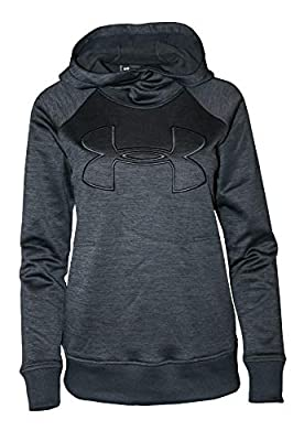 Under Armour Women's Hoodie Active Big Logo Pullover 1318396 (Black, M)