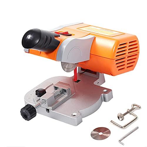 FZYE Mini Sierra de Mesa para carpintería, Sierra ingletadora, máquina cortadora de Escritorio de 100 W, 6000 R/min, Ajuste de Corte de 45 Grados para Aluminio de 12 mm de Espesor, me