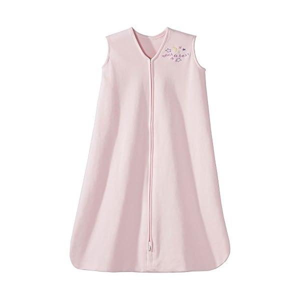 HALO Sleepsack 100% Cotton Wearable Blanket, Soft Pink, Large