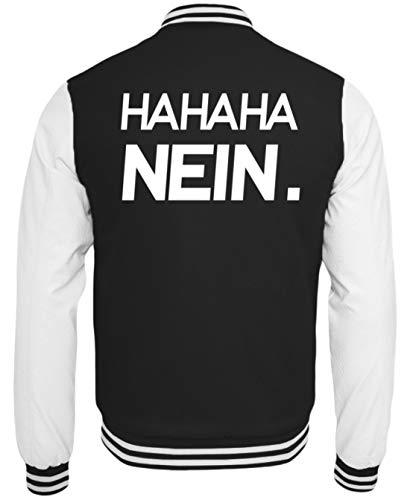 Generieke Haha Nee! Grappig sarkasme motief - Eenvoudig en grappig design - College Sweatjack
