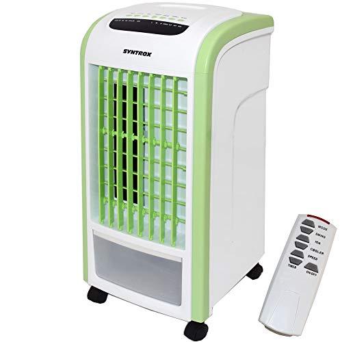 Syntrox Germany 4 in 1 Luftkühler Grün mit Fernbedienung 800m³/h Ventilator Luftbefeuchter und Lufterfrischer