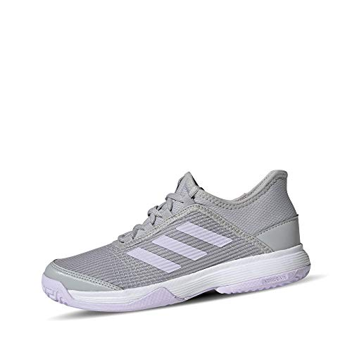 adidas Unisex-Kinder Adizero Club K Tennisschuh, Grau Zwei F17 / Lila Tönung/FTWR Weiss, 35 EU