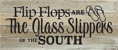 Norma Lily Flip Flops Sind die Glas Hausschuhe, 35,6x 15,2cm, Holz Schild Decor Holz Schild