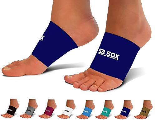 SB SOX Plantar Fasciitis Arch Support Sleeves for Men & Women – Best Sleeves for Plantar Fasciitis and Foot Pain Relief Treatment for Everyday Use (Navy, Large)